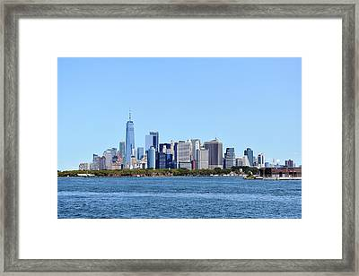 Manhattan Skyline 1 Framed Print