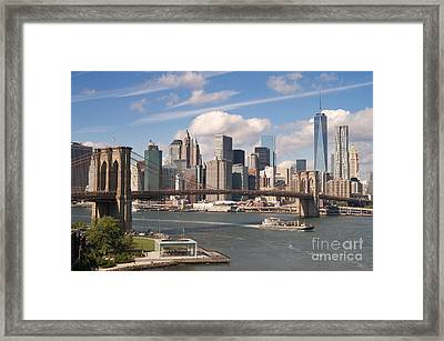 Manhattan Skyline Framed Print by Bryan Attewell