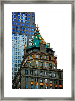 Manhattan Skyline II Framed Print by Fareeha Khawaja