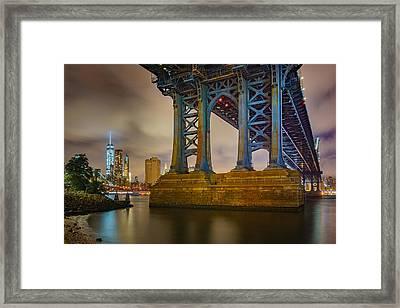 Manhattan Steel Framed Print