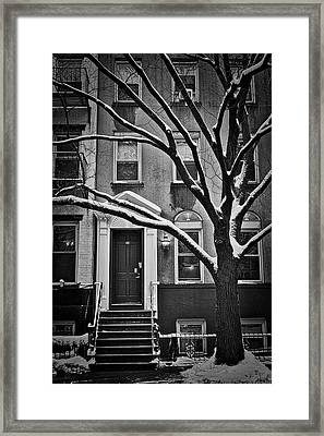 Framed Print featuring the photograph Manhattan Town House by Joan Reese