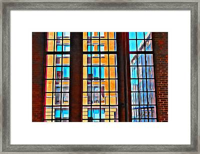 Manhattan Windows Framed Print