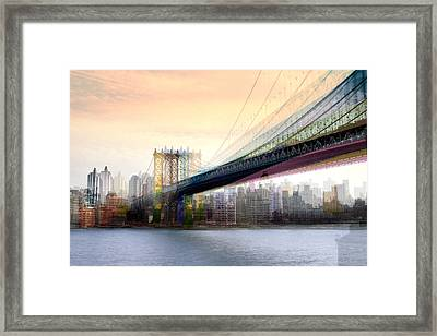Manhattan X3 Framed Print