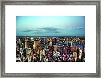 Manhattan's Upper East Side Framed Print by Randy Aveille