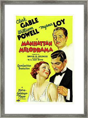 Manhatten Melodrama 1934 Framed Print