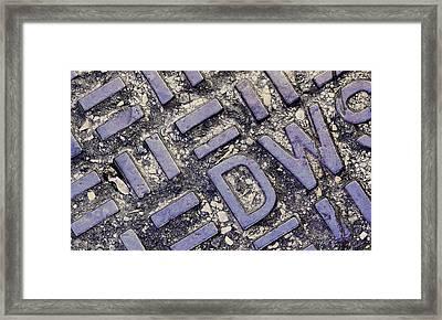 Manhole Cover Framed Print