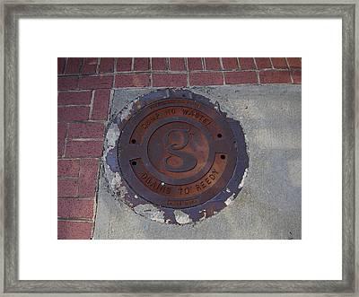 Manhole II Framed Print