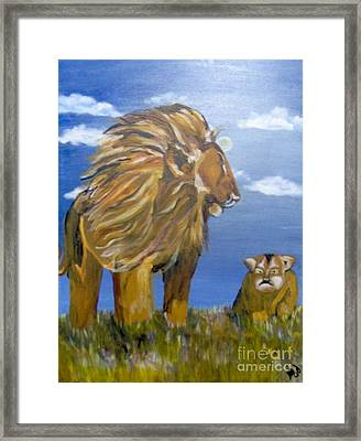 Framed Print featuring the painting Manhood Training by Saundra Johnson