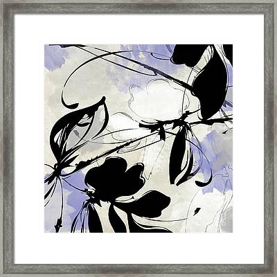Manifesto Periwinkle Framed Print by Mindy Sommers