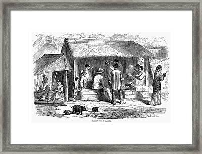 Manila: Barbershop, 1858 Framed Print by Granger
