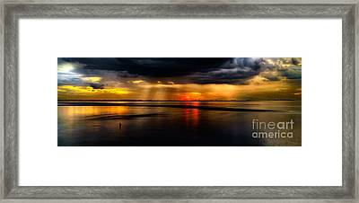 Manila Bay Sunset Framed Print by Adrian Evans