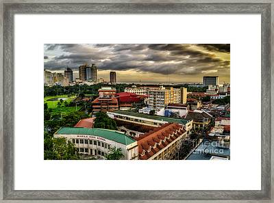 Manila High School Framed Print by Adrian Evans