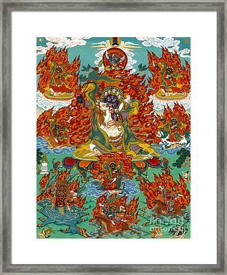 Maning Mahakala With Retinue Framed Print
