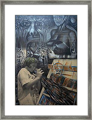 Manipulated Framed Print by Paulo Zerbato