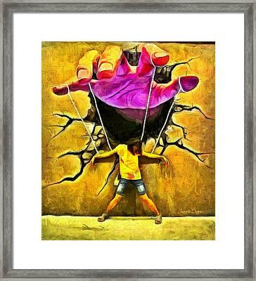 Manipulation - Da Framed Print by Leonardo Digenio