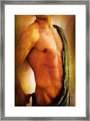 Manipulation In Yellow Framed Print by Mark Ashkenazi