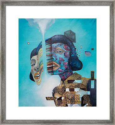 Framed Print featuring the painting Manipulation by Obie Platon
