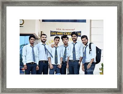 Manish Mandal  College Life Framed Print