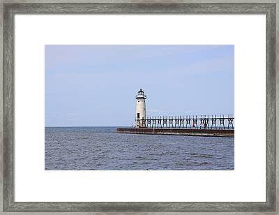 Manistee Lighthouse Framed Print by Chuck Bailey