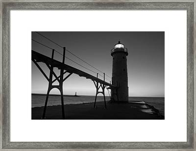 Manistee Michigan Pier Framed Print by Twenty Two North Photography