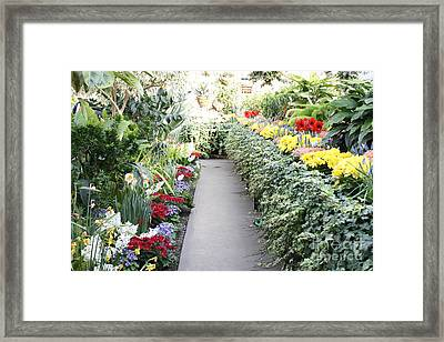 Manito Park Conservatory Framed Print by Carol Groenen