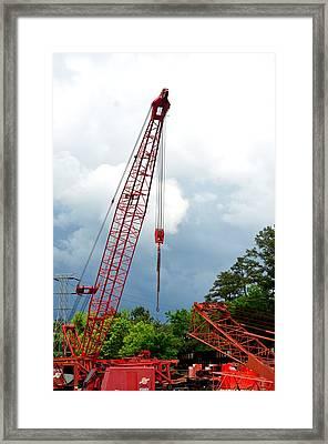 Manitowoc Crane 2015 Framed Print by Maria Urso