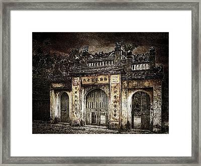 Temple Gate Framed Print by Skip Nall
