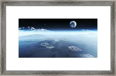 Mankind Exploring Space Framed Print by Johan Swanepoel