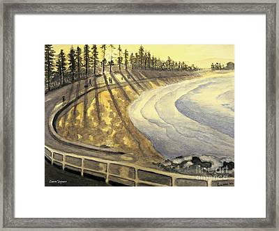 Manly Beach Sunset Framed Print by Leanne Seymour