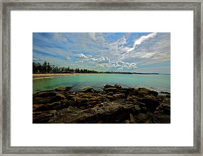 Manly Bliss Framed Print