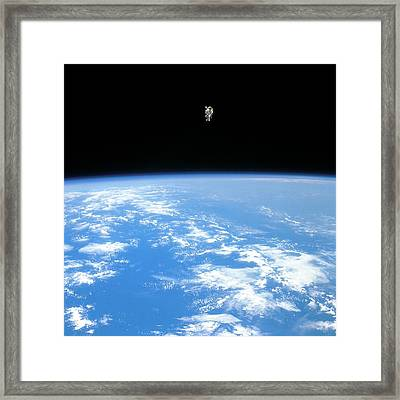 Manned Maneuvring Unit Space Walk, 1984 Framed Print by Nasa