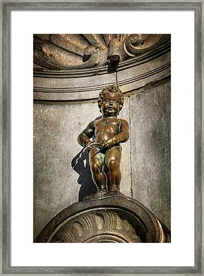 Manneken Pis Brussels Belgium  Framed Print