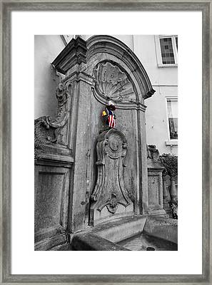 Manneken Pis Fountain Framed Print by Georgia Fowler