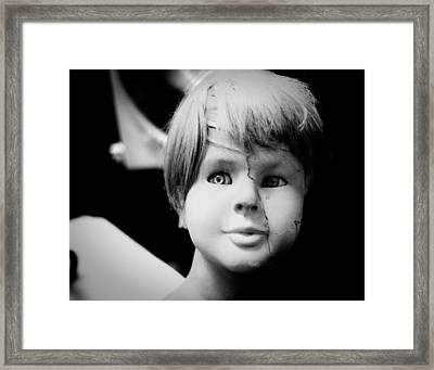Mannequin Boy Framed Print by Sonja Quintero