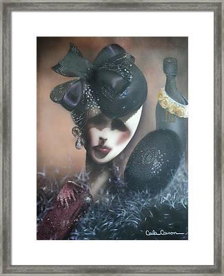 Mannequin Glitz N Glamour Framed Print by Carla Carson
