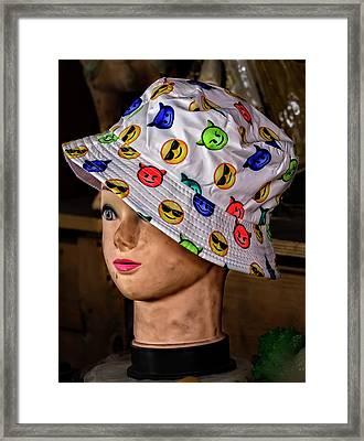 Mannequin Head And Hat Framed Print by Robert Ullmann