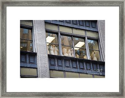 Mannequin-union Framed Print by Fred Lassmann