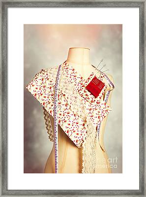 Mannequin With Colour Swatches Framed Print by Amanda Elwell