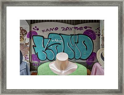 Framed Print featuring the photograph Mannequins And Graffiti by Stuart Litoff