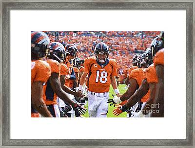 Manning Going Through The Line Framed Print