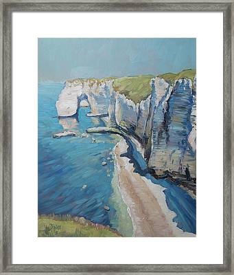 Manneport, The Cliffs At Etretat Framed Print
