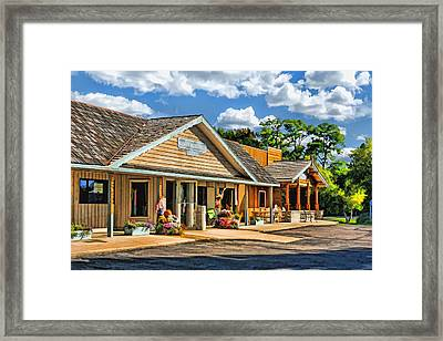 Mann's Mercantile Shops On Washington Island Door County Framed Print by Christopher Arndt