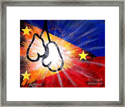 Manny Pacman Pacquiao Filipino Boxer Framed Print