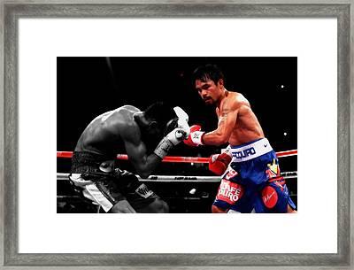 Manny Pacquiao And Chris Algieri Framed Print