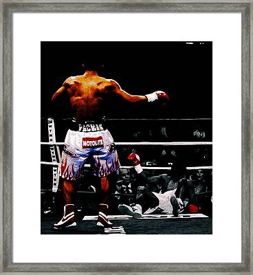 Manny Pacquiao And Erik Morales Framed Print