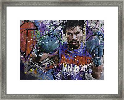 Manny Pacquiao Framed Print by Richard Day