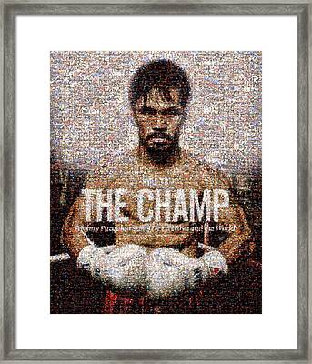 Manny Pacquiao-the Champ Framed Print