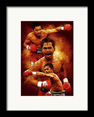 Manny Pacquio Framed Prints