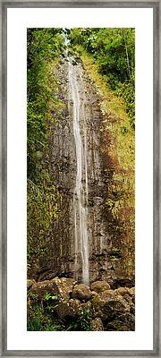 Manoa Falls Framed Print by Michael Peychich