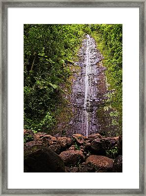 Manoa Waterfall Framed Print by Marcia Colelli